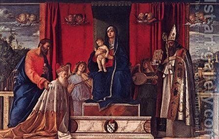 Barbarigo Altarpiece by Giovanni Bellini - Reproduction Oil Painting