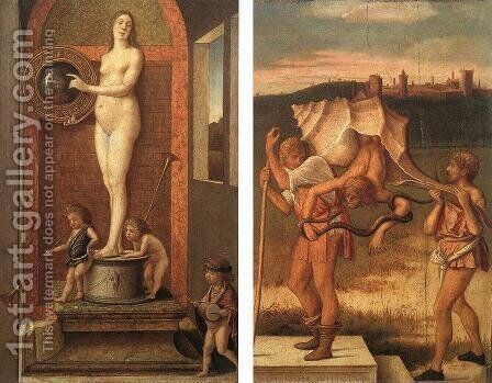Four Allegories Prudence And Falsehood c. 1490 by Giovanni Bellini - Reproduction Oil Painting