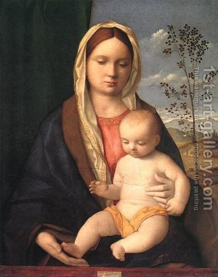 Madonna And Child by Giovanni Bellini - Reproduction Oil Painting