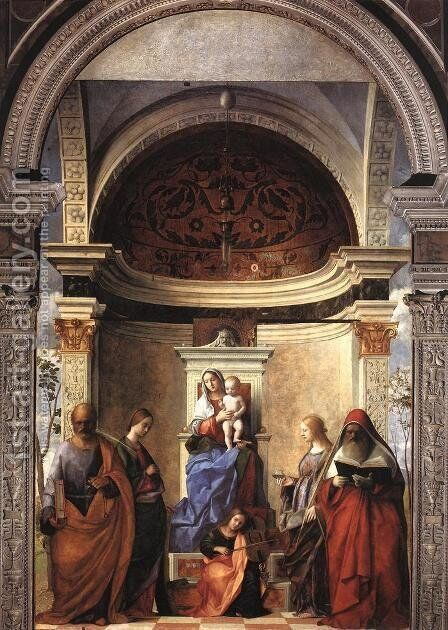 San Zaccaria Altarpiece by Giovanni Bellini - Reproduction Oil Painting