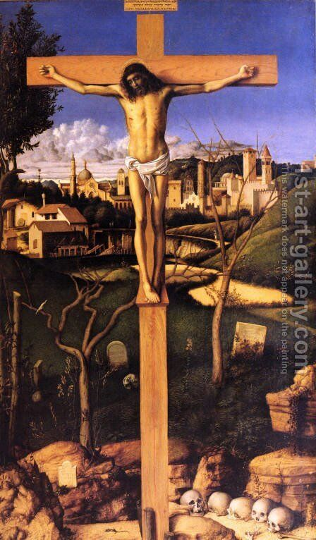 The Crucifixion by Giovanni Bellini - Reproduction Oil Painting