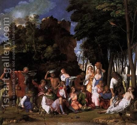 The Feast of the Gods 1514 by Giovanni Bellini - Reproduction Oil Painting