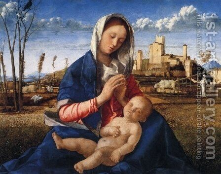 Virgin And Child by Giovanni Bellini - Reproduction Oil Painting