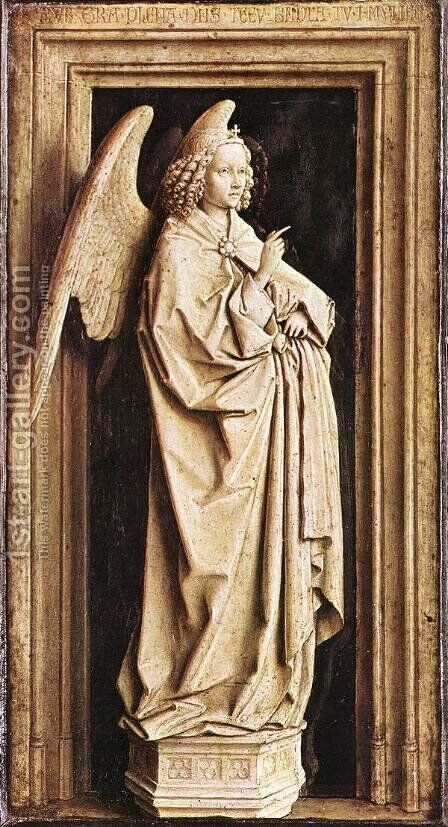 Annunciation 1436 by Jan Van Eyck - Reproduction Oil Painting