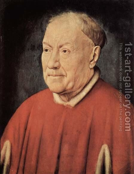 Portrait of Cardinal Niccolo Albergati 1431-32 by Jan Van Eyck - Reproduction Oil Painting