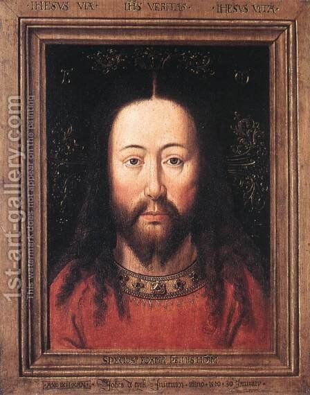 Portrait of Christ 1440 by Jan Van Eyck - Reproduction Oil Painting