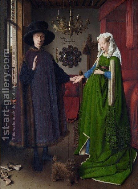 Portrait of Giovanni Arnolfini and his Wife 1434 by Jan Van Eyck - Reproduction Oil Painting