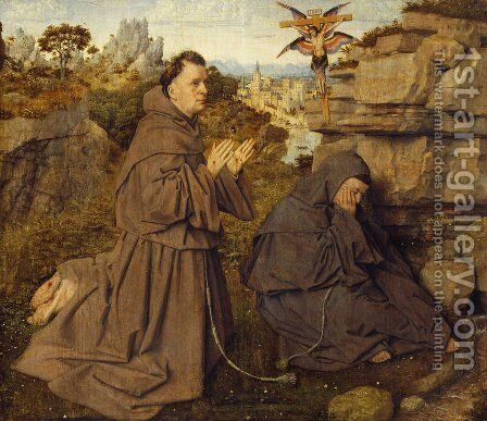 Stigmatization of St Francis 1428-29 by Jan Van Eyck - Reproduction Oil Painting