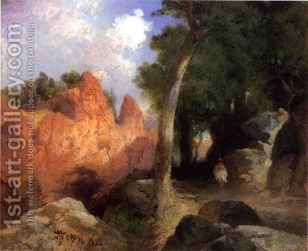 Canyon Of The Clouds by Thomas Moran - Reproduction Oil Painting
