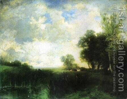 Lowery Day by Thomas Moran - Reproduction Oil Painting