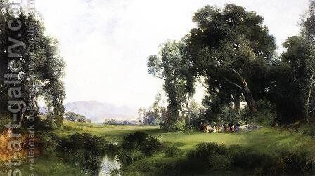 The Picnic by Thomas Moran - Reproduction Oil Painting