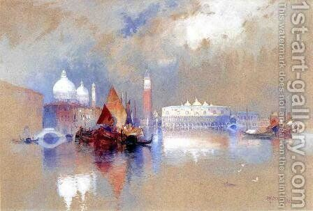 View Of Venice by Thomas Moran - Reproduction Oil Painting