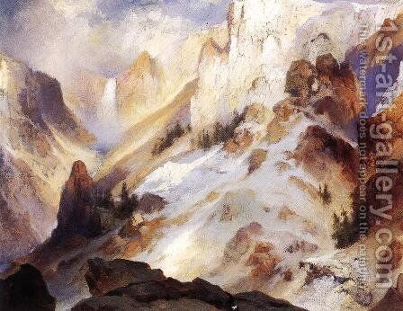 Yellowstone Canyon by Thomas Moran - Reproduction Oil Painting