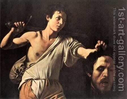 David 1606-07 by Caravaggio - Reproduction Oil Painting
