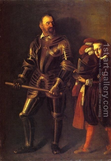 Portrait of Alof de Wignacourt 1607-08 by Caravaggio - Reproduction Oil Painting