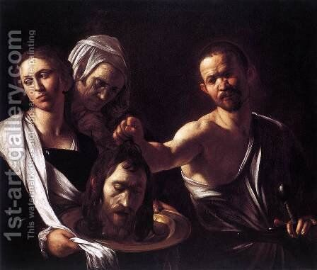 Salome with the Head of St John the Baptist c. 1607 by Caravaggio - Reproduction Oil Painting