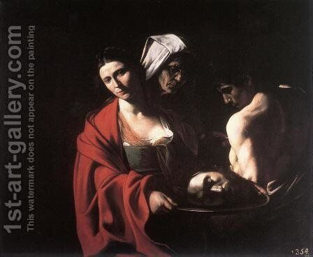 Salome with the Head of the Baptist c. 1609 by Caravaggio - Reproduction Oil Painting