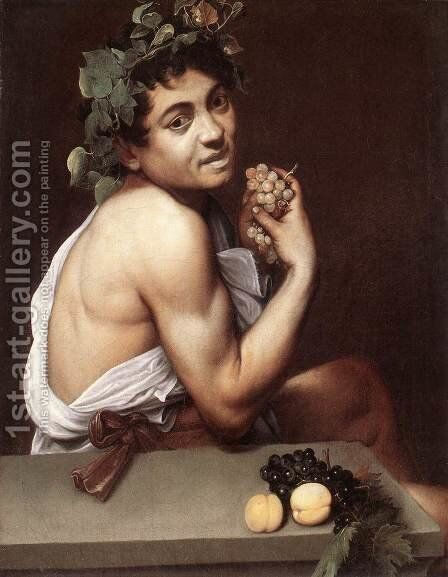 Sick Bacchus c. 1593 by Caravaggio - Reproduction Oil Painting