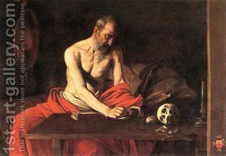 St. Jerome 1607 by Caravaggio - Reproduction Oil Painting