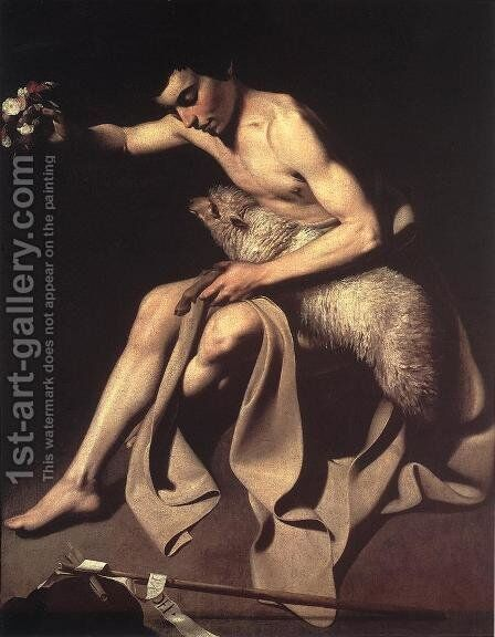 St. John the Baptist by Caravaggio - Reproduction Oil Painting