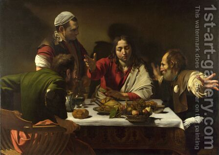 Supper at Emmaus 1601-02 by Caravaggio - Reproduction Oil Painting
