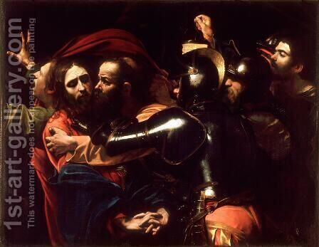 Taking of Christ c. 1598 by Caravaggio - Reproduction Oil Painting