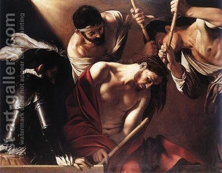 The Crowning with Thorns by Caravaggio - Reproduction Oil Painting