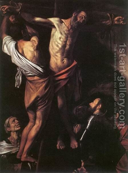 The Crucifixion of St Andrew c. 1607 by Caravaggio - Reproduction Oil Painting