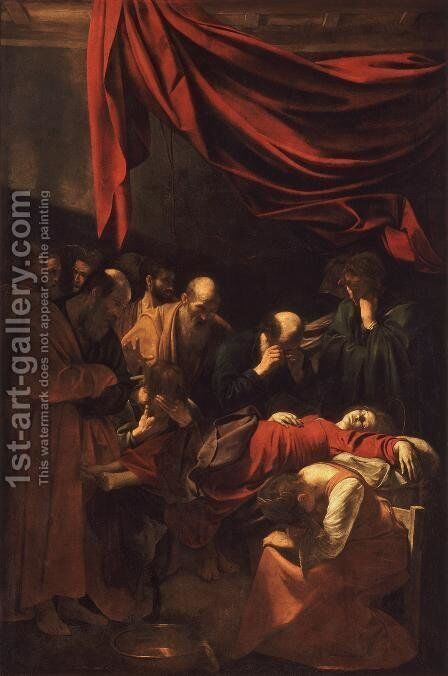 The Death of the Virgin 1606 by Caravaggio - Reproduction Oil Painting