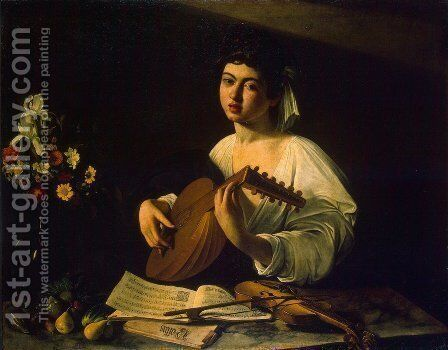 The Lute Player c. 1600 by Caravaggio - Reproduction Oil Painting
