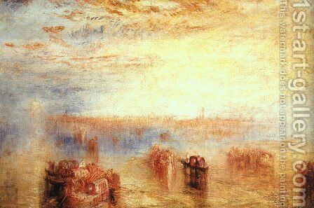 Approach to Venice 1843 by Turner - Reproduction Oil Painting