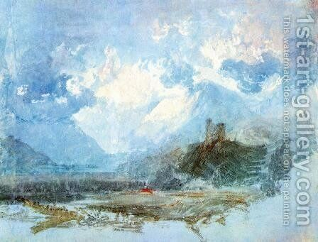 Dolbadern Castle 1799 by Turner - Reproduction Oil Painting