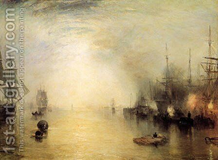Keelman Heaving In Coals By Night by Turner - Reproduction Oil Painting