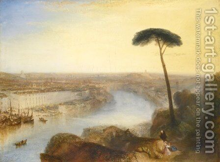 Rome From Mount Aventine by Turner - Reproduction Oil Painting