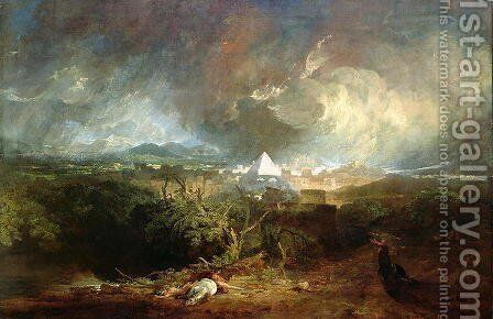 The Fifth Plague of Egypt 1800 by Turner - Reproduction Oil Painting