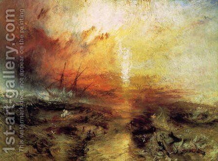 The Slave Ship 1840 by Turner - Reproduction Oil Painting