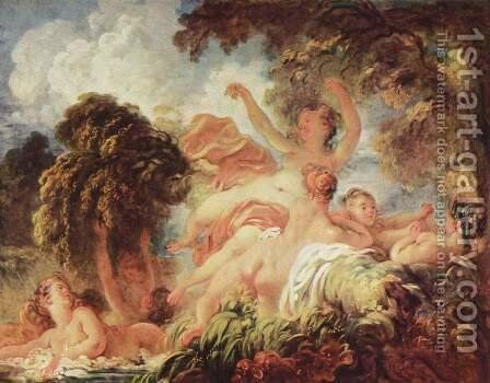 The Bathers 1772-75 by Jean-Honore Fragonard - Reproduction Oil Painting