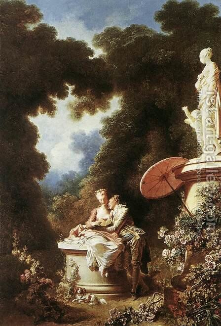 The Confession of Love 1771 by Jean-Honore Fragonard - Reproduction Oil Painting