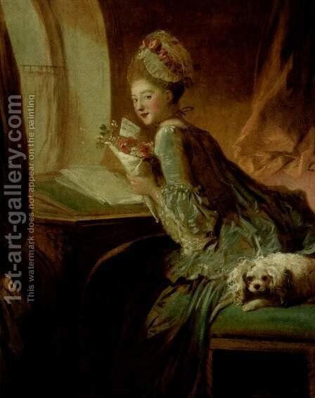 The Love Letter 1770s by Jean-Honore Fragonard - Reproduction Oil Painting