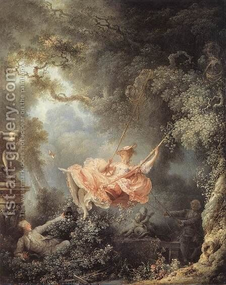 The Swing 1767 by Jean-Honore Fragonard - Reproduction Oil Painting