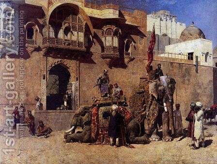 A Rajah Of Jodhpur by Edwin Lord Weeks - Reproduction Oil Painting