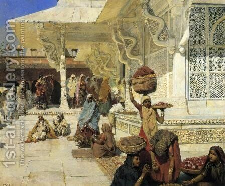 Festival At Fatehpur Sikri by Edwin Lord Weeks - Reproduction Oil Painting