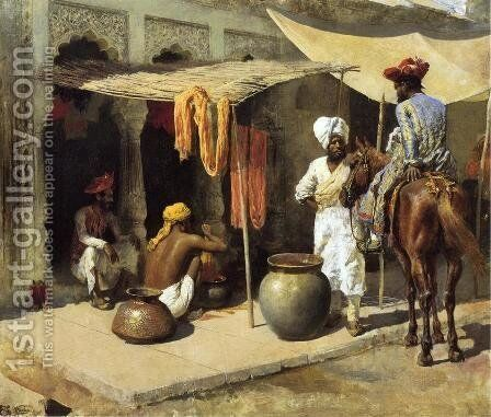 Outside An Indian Dye House by Edwin Lord Weeks - Reproduction Oil Painting