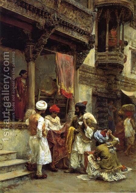 The Silk Merchants by Edwin Lord Weeks - Reproduction Oil Painting