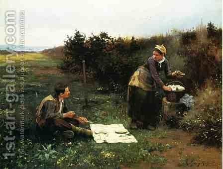 The Honeymoon Breakfast by Daniel Ridgway Knight - Reproduction Oil Painting