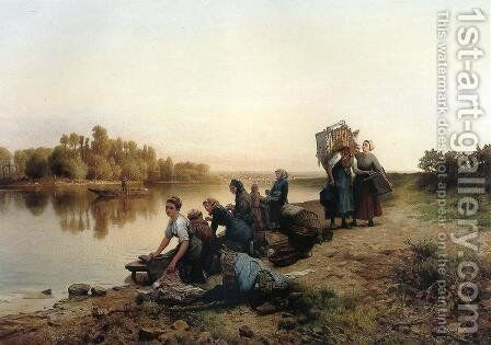 Wash Day by Daniel Ridgway Knight - Reproduction Oil Painting