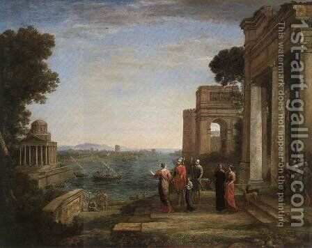 Aeneas's Farewell to Dido in Carthago 1676 by Claude Lorrain (Gellee) - Reproduction Oil Painting