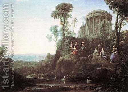 Apollo and the Muses on Mount Helion (Parnassus) 1680 by Claude Lorrain (Gellee) - Reproduction Oil Painting