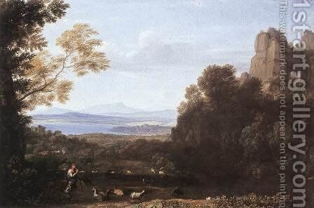 Landscape with Apollo and Mercury 1660 by Claude Lorrain (Gellee) - Reproduction Oil Painting