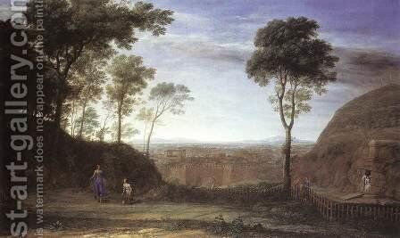 Landscape with Noli Me Tangere Scene 1681 by Claude Lorrain (Gellee) - Reproduction Oil Painting